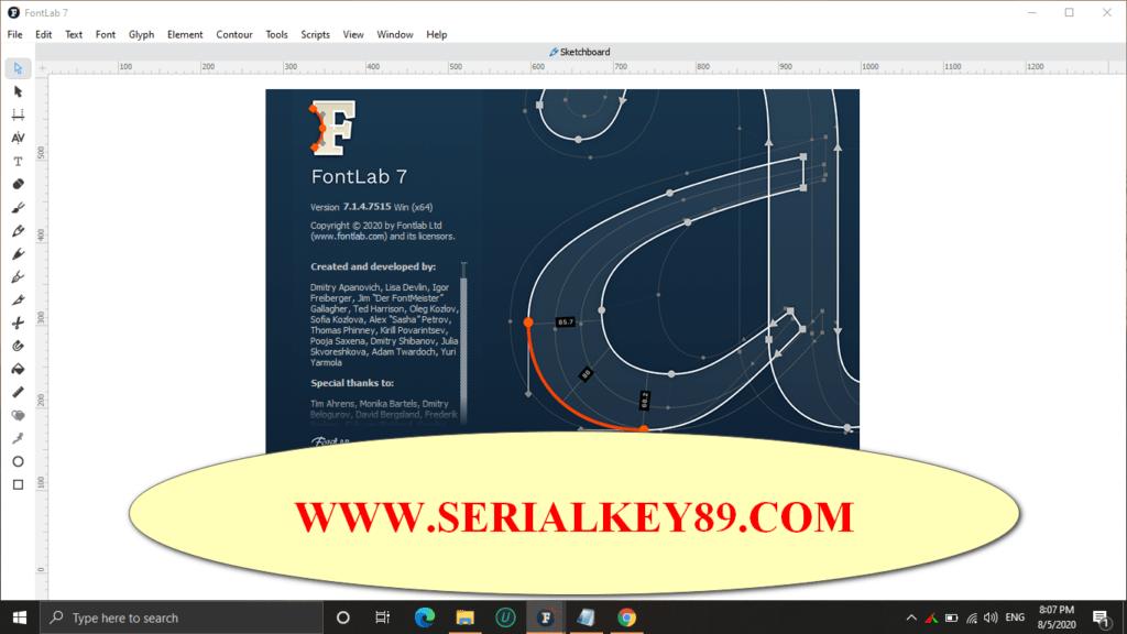 FontLab studio 7.1.4.7515