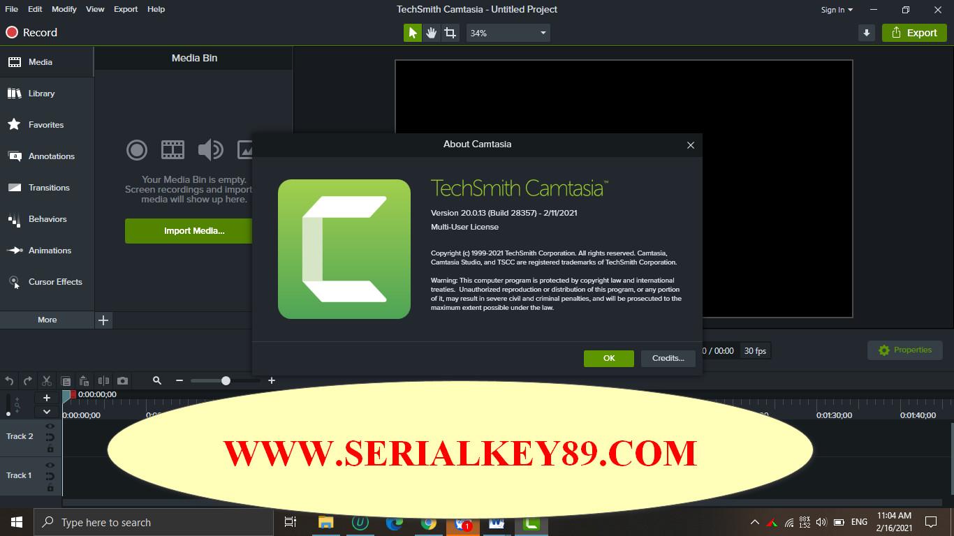 TechSmith Camtasia 2020.0.13 Build 28357