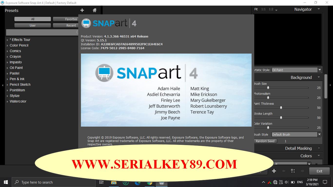 Exposure Software Snap Art 4.1.3.366