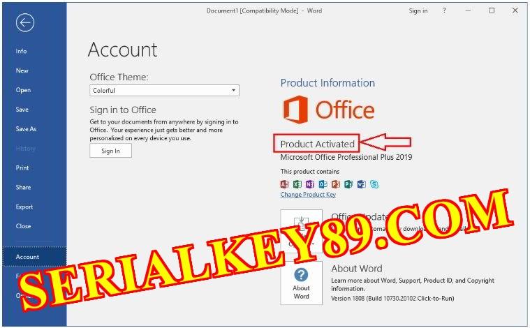 Microsoft office 2019 v16.0.13127.206160