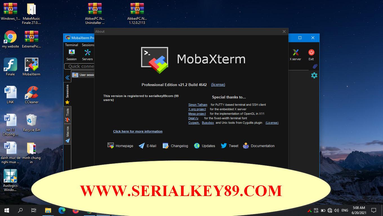 MobaXterm Pro 21.2