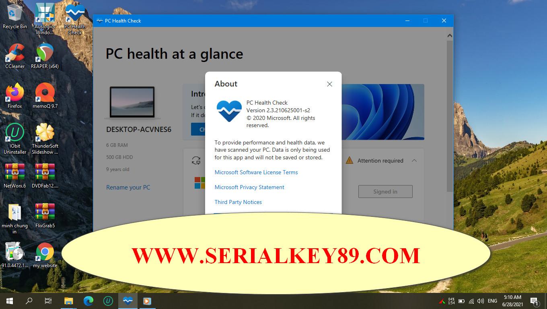 Windows PC Health Check 2.3